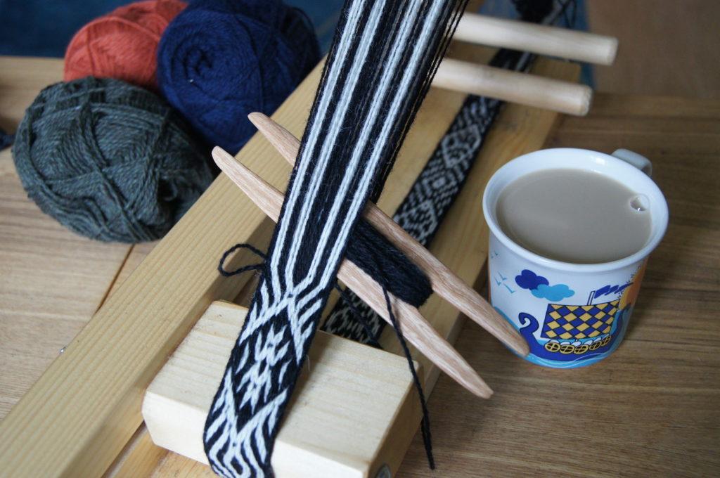 weaving loom coffee mug