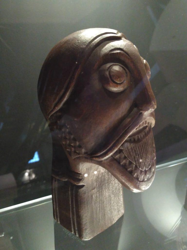 odin's head in wood