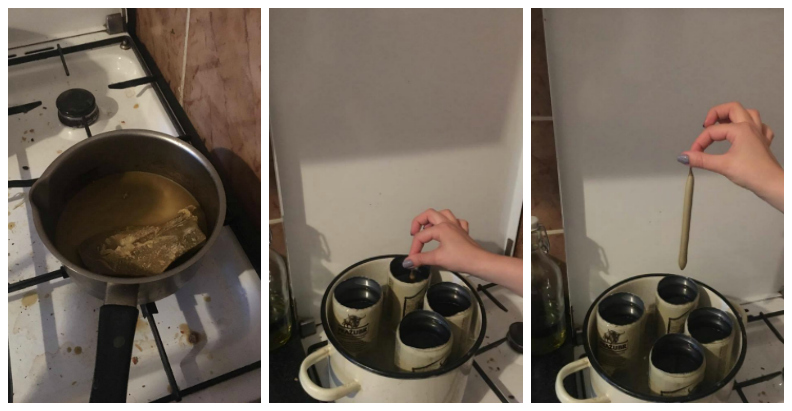 steps of candle making